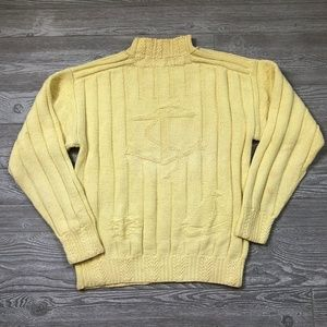 Polo Ralph Lauren Yellow Hand Knit Sweater L X36